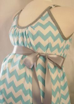Maternity Hospital Gown, delivery nursing gown breastfeeding gown...... This is using chevron officially EVERYWHERE
