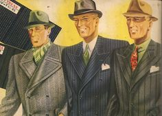 It was the style at the guys in Collins clothes 1939 when war was imminent. (Åhlen & Holm directory)