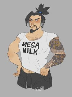 Image result for mega milk Overwatch Hanzo, Overwatch Memes, Gay Comics, Cute Comics, Awesome Art, Cool Art, Mega Milk, Genji And Hanzo, Hanzo Shimada