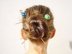 Bobby Pins Handmade Hair Pins Teal Hair Pins Cracked Turquoise Beaded Bobby Pins Custom Hair Pins Beaded Pins Hair Jewelry
