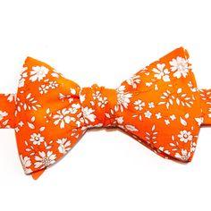 Noeud papillon Liberty Capel Orange  Orange Capel Liberty Bow Tie