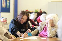 Health and Social Care students have spent 4 weeks working with a local Elderly Care Group in Brimington - Here's Eleanor and Emily having a good giggle :)