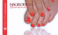 UV Permanent Nagellack Shellac Nageldesign Nailart Coral Füße & Hände Blumenmalerei