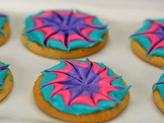 Tie-Dye Cookies recipe from Kids Baking Championship via Food Network