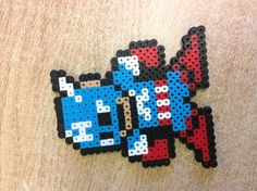 Captain America perler beads by Molly W.