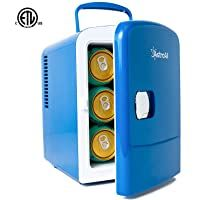 AstroAI Mini Fridge 4 Liter//6 Can Portable AC//DC Powered Thermoelectric System Cooler and Warmer for Cars and Dorms Offices Homes