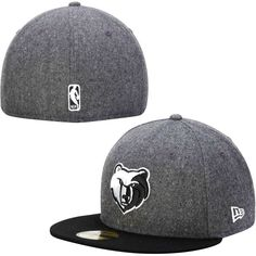 c6969addd43a3 Memphis Grizzlies New Era Smoke Flannel 59FIFTY Fitted Hat - Gray