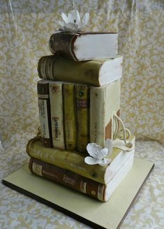 Book cake made by The Cake Whisperer, as seen on Cake Wrecks Unique Wedding Cakes, Unique Cakes, Creative Cakes, Cake Wedding, Gorgeous Cakes, Pretty Cakes, Amazing Cakes, It's Amazing, Dessert Mousse