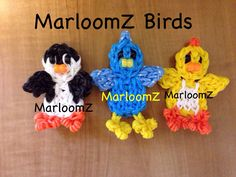 Rainbow loom Birds - MarloomZ Creations