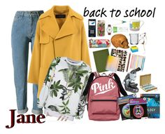 """""""Jane (back to school)"""" by bambolinadicarta ❤ liked on Polyvore featuring School of Life, ban.do, Barbara Bui, Hand Chemistry, PiP Studio, Victoria's Secret, Casetify, Fendi, Alexis Bittar and Rigby & Mac"""
