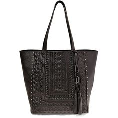Steven by Steve Madden Women's Indie Leather Embossed Tote ($94) ❤ liked on Polyvore featuring bags, handbags, tote bags, cognac, cognac tote, tote purses, cognac leather tote, genuine leather handbags and embossed leather handbags