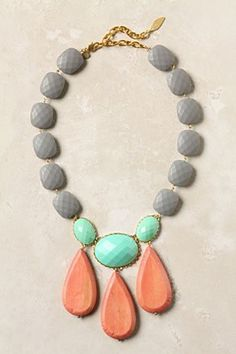 always love one bold piece of jewelry to add a splash of color, anthropologie moche necklace Jewelry Box, Jewelry Accessories, Fashion Accessories, Jewelry Necklaces, Beaded Necklace, Jewelry Design, Fashion Jewelry, Jewelry Making, Chunky Necklaces