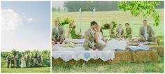 Country Picnic Wedding Reception Ideas | Marlyand Farm Wedding - Rustic Wedding Chic