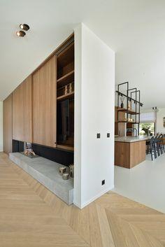 Modern landelijk, de maatwerker, the art of living Open Plan Kitchen Living Room, Kitchen Dining Living, Küchen Design, Floor Design, House Design, Interior Architecture, Interior Design, Minimalist Home, Home And Living
