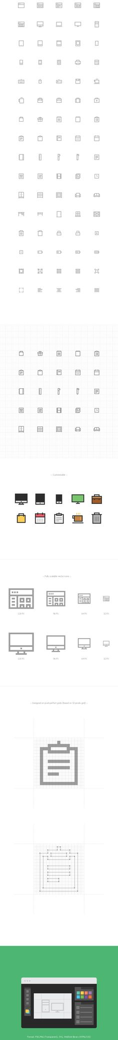 Free Download : Pixelvicon Icon Set (80 Icons – PSD, PNG, SVG, Webfont)