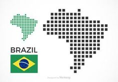 Image result for map low poly brazil
