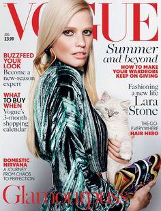 UK Vogue August 2015 Lara Stone by Mario Testino 1