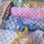 CROCHET BABY BLANKETS with knitted set - via @Craftsy
