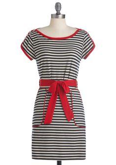 aye, aye, cutie dress {modcloth has such fun names! Unique Dresses, Cute Dresses, Vintage Dresses, Casual Dresses, Cute Outfits, Nautical Dress, Sailor Dress, Mod Dress, Fashion Outfits
