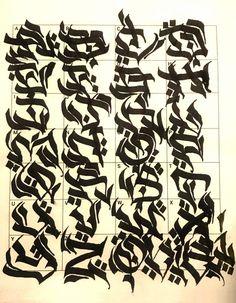 Graffiti Letters: 61 graffiti artists share their styles Graffiti Lettering Alphabet, Chicano Lettering, Graffiti Writing, Tattoo Lettering Fonts, Graffiti Font, Graffiti Tagging, Street Art Graffiti, Graffiti Artists, Creative Lettering