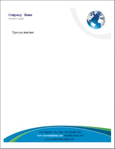 Letterhead Template at word-documents.com