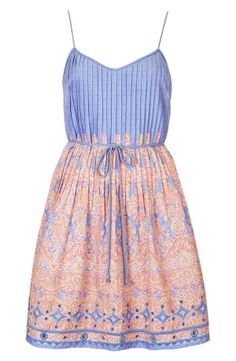 Kate Moss Topshop Blue Paisley Mini Sundress Belted Dress 8 Sold Out Passion For Fashion, Love Fashion, Fashion Beauty, Spring Fashion, Womens Fashion, Fashion Trends, Beach Fashion, Kate Moss, Summer Styles