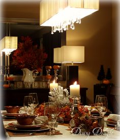 Thanksgiving Table Setting by dining delight, via Flickr