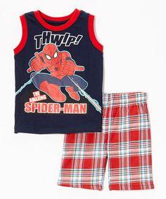"""Children's Apparel Network """"Spider-Man"""" tank & shorts on Zulily."""