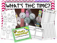 *Teaching Maddeness*: Teaching Tip Tuesday & Telling Time Activity Envision Math Kindergarten, Kindergarten Math, Telling Time Activities, Math Activities, Teaching Career, Teaching Tips, Classroom Clock, Classroom Ideas, 1st Grade Math