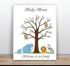 Safari Árbol familia huellas imprimible    Árbol de por ByYolanda
