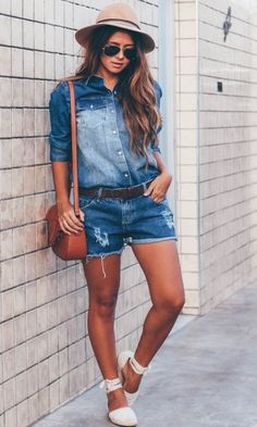 Look: All Jeans com Shorts