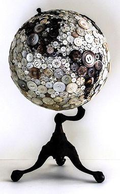 just love it. The black and white buttons with the antique-look stand   Cactus Creek Daily