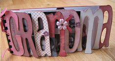 Mother's Day for Grandma - photo album made w/ scrapbook paper and chipboard