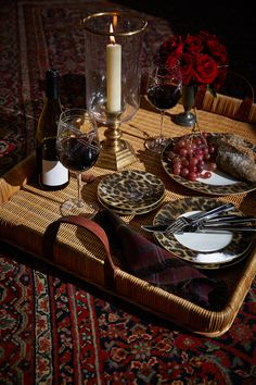 Ralph Lauren Home bold and chic leopard print tabletop collection, Hutchinson.