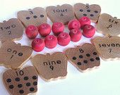 Counting Apples Wood Toy (Etsy)