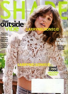 Rose Byrne, Shape Magazine, Hiking Gear, Workout Gear, Magazines, The Outsiders, Shapes, Journals, Backpacking Gear