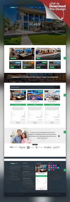 Buy Real Estate 7 WordPress by contempoinc on ThemeForest. WP Pro Real Estate 7 – Responsive Real Estate WordPress Theme The last real estate WordPress theme you'll ever need . Web Portfolio, Printed Portfolio, Portfolio Website Design, Professional Wordpress Themes, Best Wordpress Themes, Best Website Templates, Real Estate Business, Web Layout