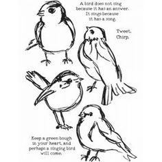 Scribbly Birds Dina Wakley Media Stamps