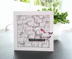 Ramblings of an avid card maker. Rainbow Card, Unicorn Crafts, Idee Diy, Animal Cards, Card Maker, Cool Cards, Creative Cards, Kids Cards, Greeting Cards Handmade