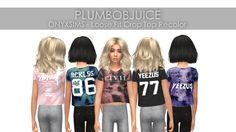 JUICE Sims 4 Seasons, Thin Ribbon, Sims 4 Toddler, Sims 4 Cc Finds, Sims Cc, Different Styles, Juice, Kids Outfits, Graphic Tees