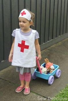 Krankenschwester Kostüm selber machen | Kostüm Idee zu Karneval, Halloween & Fasching