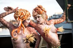 Ok, so they are mermaid, but the tentacle arms and head pieces though.