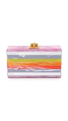 Edie Parker Jean Striped Clutch | SHOPBOP