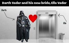 Darth Vader and his new bride…