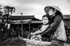 Cycling back from the Market, Siem Reap Cambodia ~Susan Crichton-Stuart