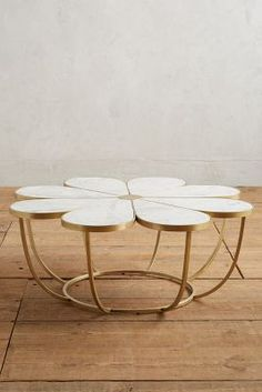 gorgeous marble + brass Boutonniere Coffee Table by @anthropologie