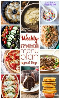 10 great bloggers bringing you a full week of recipes including dinner, sides dishes, and desserts!