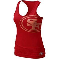 Nike San Francisco 49ers Women's Big Logo Tri-Blend Tank - Scarlet