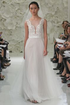 "Watters ""Marnie"" Wedding Dress Runway Spring 2015"