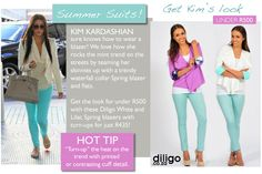 "Get Kim Kardashian's ""Summer Suit"" look for under R500 